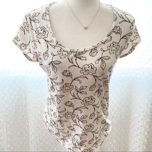 Ann Taylor Floral T Shirt Medium